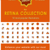 Retina collection of stock retina illustrations