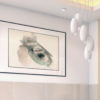 Lasik Blade Watercolor framed on office wall