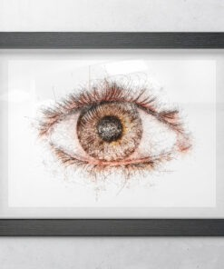 Abstract eyeball art framed print