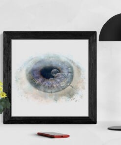 cornea surgeon art gift print framed