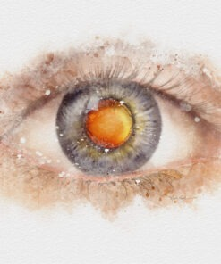 Cataract doctor gift watercolor art print