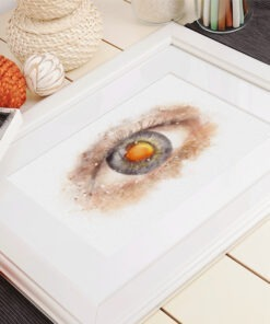 Cataract doctor gift Watercolor IOL in Pupil framed print