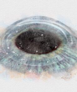 Intacs corneal implants, cornea doctor gift, watercolor eye doctor decor
