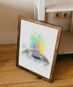 lasik doctor gift Watercolor Lasik Wavefront framed art print