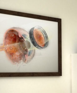 Watercolor Ophthalmoscopy frame on wall web